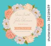 flower wedding invitation card  ... | Shutterstock .eps vector #362184659