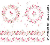 two floral round garlands and... | Shutterstock .eps vector #362186051