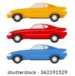 car design vintage style vector ... | Shutterstock .eps vector #362191529