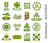 flat label set of natural olive ... | Shutterstock .eps vector #362193245