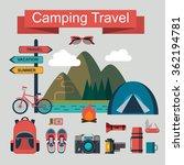 vector set of flat camping... | Shutterstock .eps vector #362194781