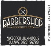 barber typeface with sample... | Shutterstock .eps vector #362196335
