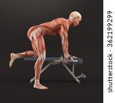 bodybuilding gym exercising.... | Shutterstock . vector #362199299
