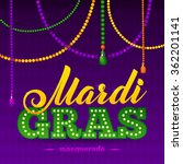 mardi gras party poster.... | Shutterstock .eps vector #362201141