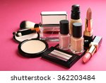 cosmetics on pink background | Shutterstock . vector #362203484