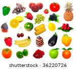 fruit and vegetables | Shutterstock . vector #36220726
