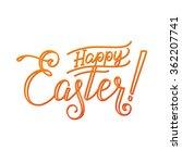 happy easter typographical... | Shutterstock .eps vector #362207741