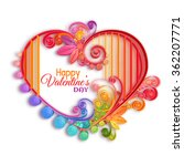 quilling paper heart. vector... | Shutterstock .eps vector #362207771