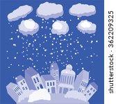 winter in city. vector... | Shutterstock .eps vector #362209325