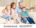 happy family taking selfie on... | Shutterstock . vector #362209937