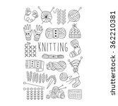 knitting. black and white... | Shutterstock .eps vector #362210381