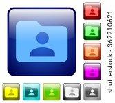 set of folder owner color glass ...