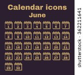the calendar icon.  june symbol.... | Shutterstock .eps vector #362211641