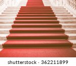 red carpet on a stairway used... | Shutterstock . vector #362211899