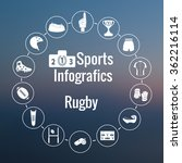 set of sport icon. american and ... | Shutterstock .eps vector #362216114
