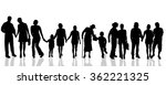 vector silhouettes of different ... | Shutterstock .eps vector #362221325