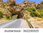 female tourist under mountain... | Shutterstock . vector #362230325
