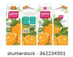 orange juice template packaging ... | Shutterstock .eps vector #362234501
