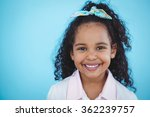 cute girl smiling at camera | Shutterstock . vector #362239757