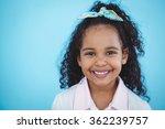 cute girl smiling at camera | Shutterstock . vector #362239757