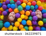 cute smiling kids in sponge... | Shutterstock . vector #362239871