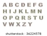gauzy font with transparent... | Shutterstock . vector #36224578