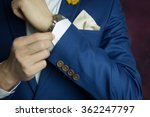 man in blue suit two bottons ... | Shutterstock . vector #362247797