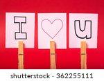 i love you written on white... | Shutterstock . vector #362255111