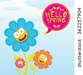 vector spring cartoon flowers... | Shutterstock .eps vector #362257904