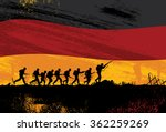silhouette of soldiers fighting ...
