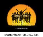 winner marathon running with... | Shutterstock .eps vector #362262431