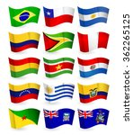 south america country flying... | Shutterstock .eps vector #362265125