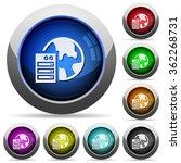 set of round glossy web hosting ...