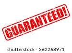 guaranteed red stamp text on... | Shutterstock .eps vector #362268971