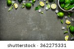 Lime Background. Limes With...
