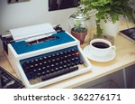 hipster work space | Shutterstock . vector #362276171