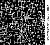 seamless hi tech pattern.... | Shutterstock .eps vector #362281865