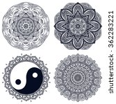 mandalas. vintage decorative... | Shutterstock .eps vector #362283221