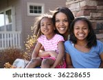 portrait of mother and... | Shutterstock . vector #36228655