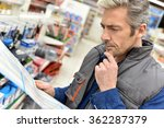 merchandiser checking products... | Shutterstock . vector #362287379