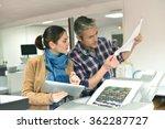 client in printshop controlling ... | Shutterstock . vector #362287727