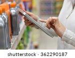 merchandiser checking products... | Shutterstock . vector #362290187
