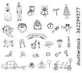 hand drawn doodle wedding...