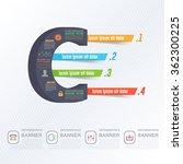 letter c infographics design...   Shutterstock .eps vector #362300225
