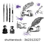 vintage hand drawn hands... | Shutterstock .eps vector #362312327