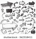 vector black arrow icon on... | Shutterstock .eps vector #362318411