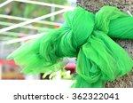 green cloth tied tree | Shutterstock . vector #362322041