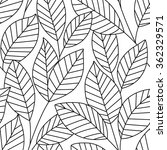 seamless pattern with leaves.... | Shutterstock .eps vector #362329571