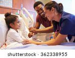 pediatrician visiting father... | Shutterstock . vector #362338955
