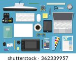 concept business office set... | Shutterstock .eps vector #362339957